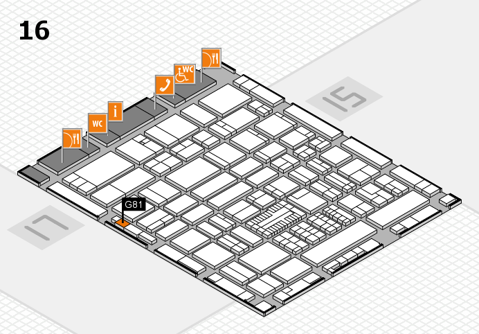 ProWein 2017 hall map (Hall 16): stand G81