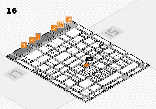 ProWein 2017 Hallenplan (Halle 16): Stand D41