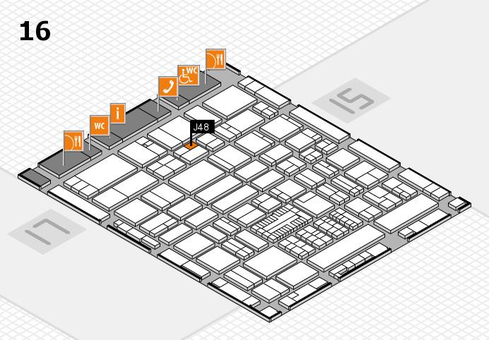 ProWein 2017 hall map (Hall 16): stand J48