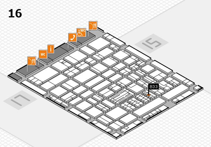 ProWein 2017 hall map (Hall 16): stand B33