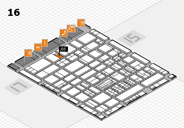 ProWein 2017 hall map (Hall 16): stand J55