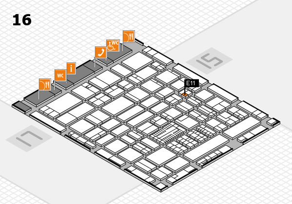 ProWein 2017 hall map (Hall 16): stand E11