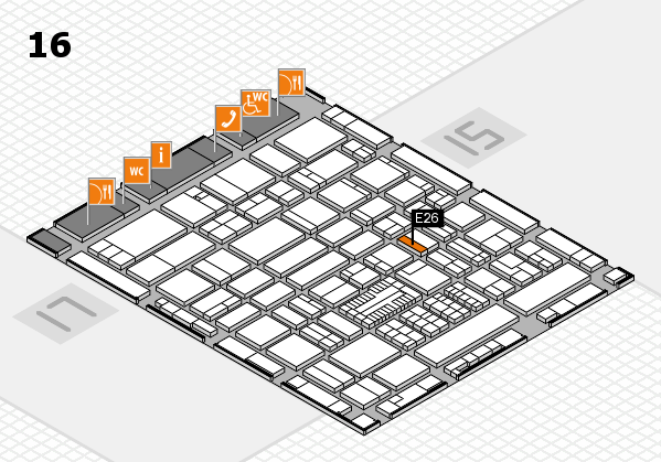 ProWein 2017 hall map (Hall 16): stand E26
