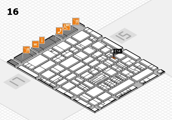 ProWein 2017 hall map (Hall 16): stand E14