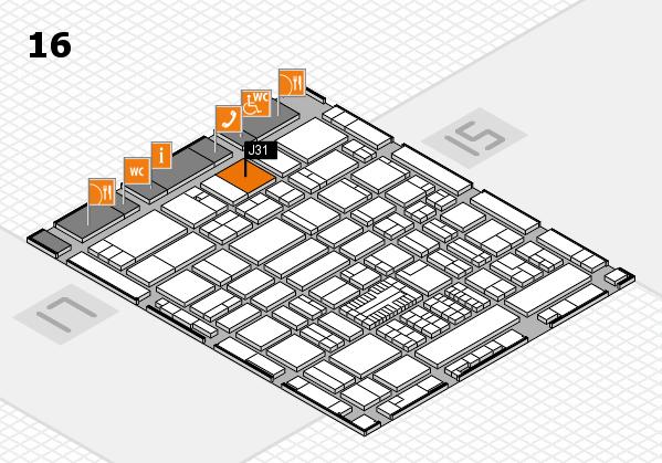 ProWein 2017 hall map (Hall 16): stand J31