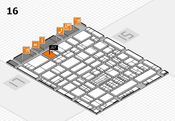 ProWein 2017 hall map (Hall 16): stand J57