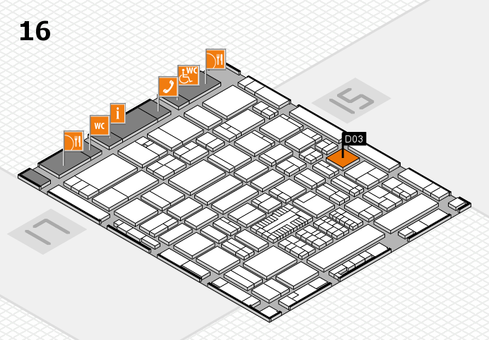ProWein 2017 hall map (Hall 16): stand D03