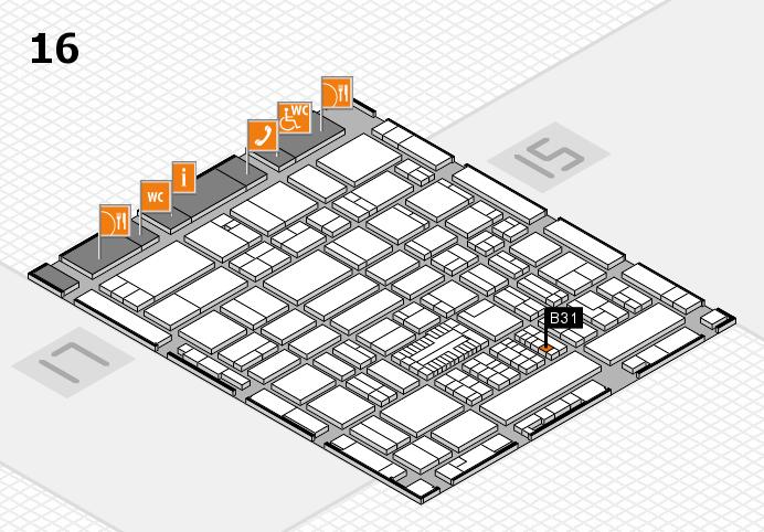 ProWein 2017 hall map (Hall 16): stand B31