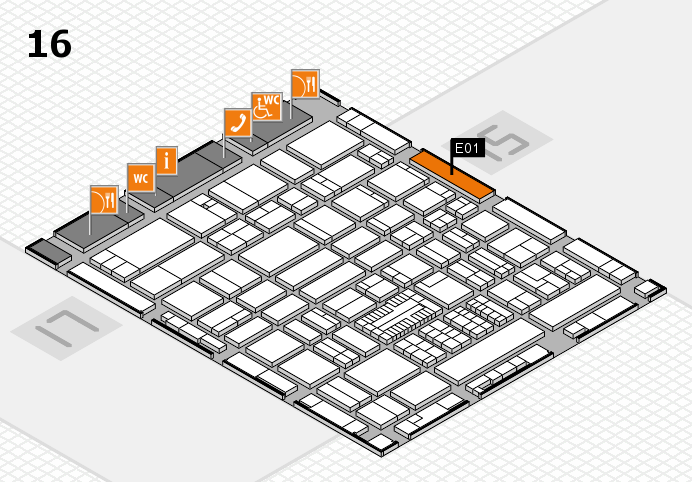 ProWein 2017 hall map (Hall 16): stand E01
