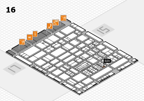 ProWein 2017 hall map (Hall 16): stand B29