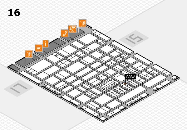 ProWein 2017 Hallenplan (Halle 16): Stand C38A