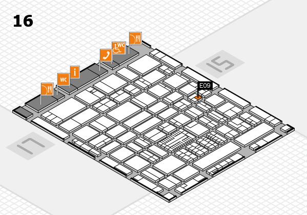 ProWein 2017 hall map (Hall 16): stand E09