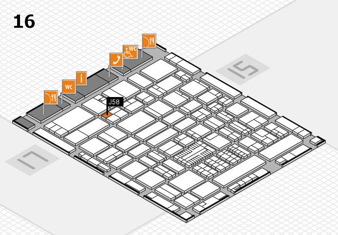 ProWein 2017 hall map (Hall 16): stand J58