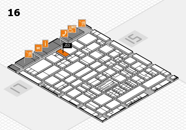ProWein 2017 hall map (Hall 16): stand J53