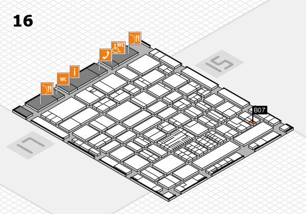 ProWein 2017 hall map (Hall 16): stand B07