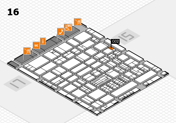 ProWein 2017 hall map (Hall 16): stand G02