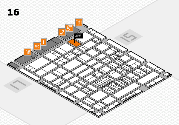 ProWein 2017 hall map (Hall 16): stand J25