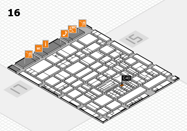 ProWein 2017 hall map (Hall 16): stand C40