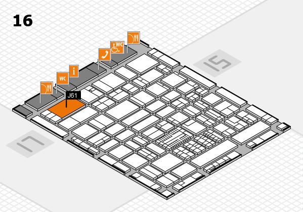 ProWein 2017 hall map (Hall 16): stand J61