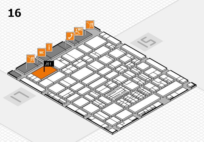 ProWein 2017 Hallenplan (Halle 16): Stand J61