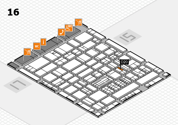 ProWein 2017 hall map (Hall 16): stand D20