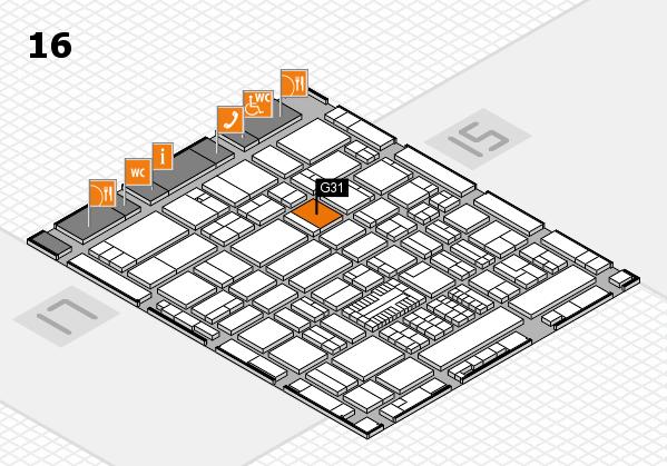 ProWein 2017 Hallenplan (Halle 16): Stand G31