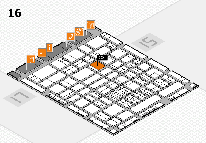 ProWein 2017 hall map (Hall 16): stand G31