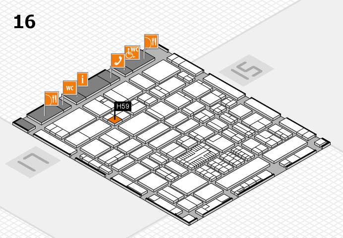 ProWein 2017 hall map (Hall 16): stand H59