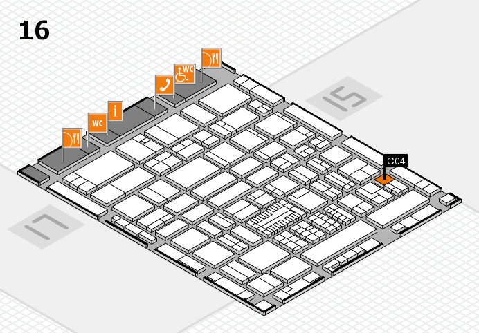 ProWein 2017 hall map (Hall 16): stand C04