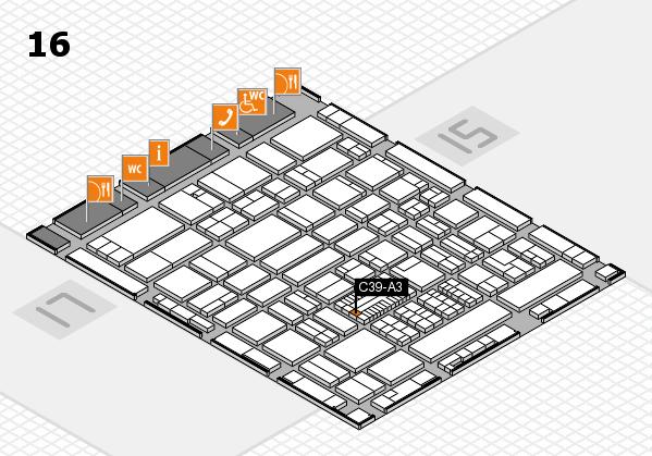 ProWein 2017 Hallenplan (Halle 16): Stand C39-A3