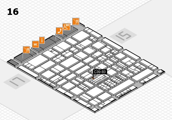 ProWein 2017 Hallenplan (Halle 16): Stand C39-B3