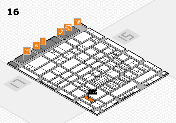 ProWein 2017 hall map (Hall 16): stand C72