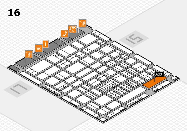 ProWein 2017 Hallenplan (Halle 16): Stand A03