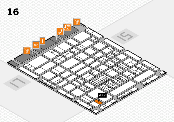 ProWein 2017 hall map (Hall 16): stand A77