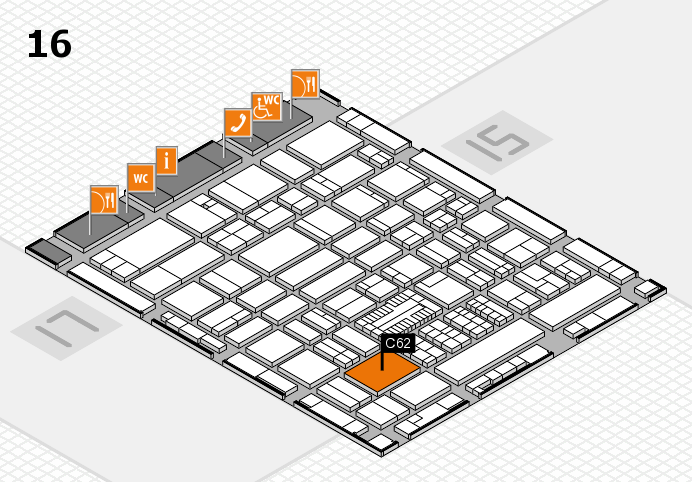 ProWein 2017 hall map (Hall 16): stand C62