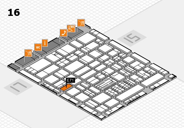 ProWein 2017 hall map (Hall 16): stand E71