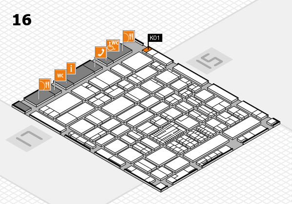 ProWein 2017 Hallenplan (Halle 16): Stand K01