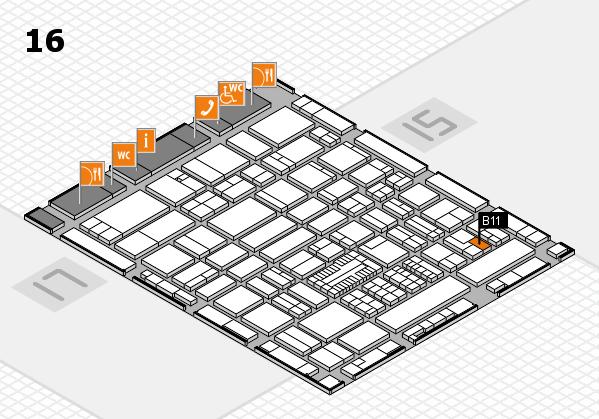 ProWein 2017 hall map (Hall 16): stand B11