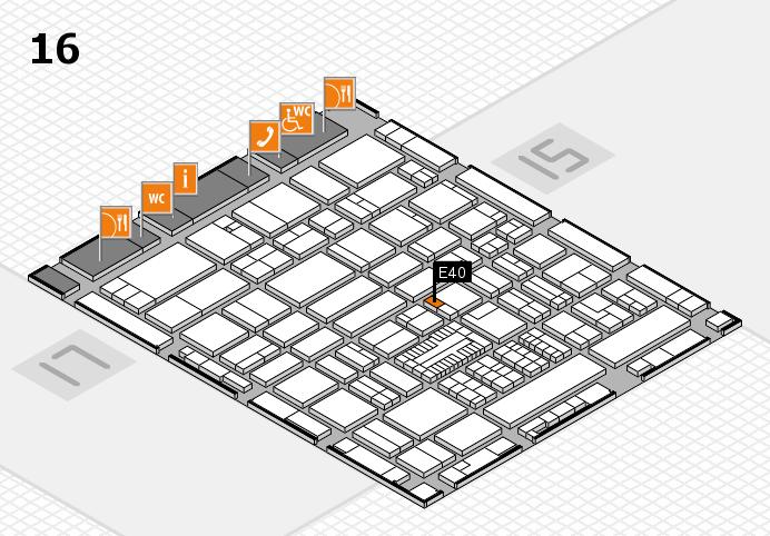 ProWein 2017 hall map (Hall 16): stand E40