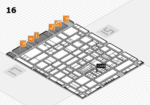ProWein 2017 Hallenplan (Halle 16): Stand C44B