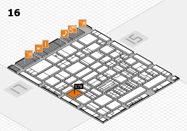 ProWein 2017 hall map (Hall 16): stand E78
