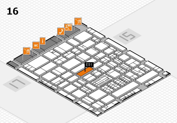 ProWein 2017 Hallenplan (Halle 16): Stand E51
