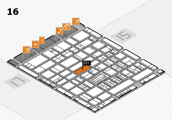 ProWein 2017 hall map (Hall 16): stand E51