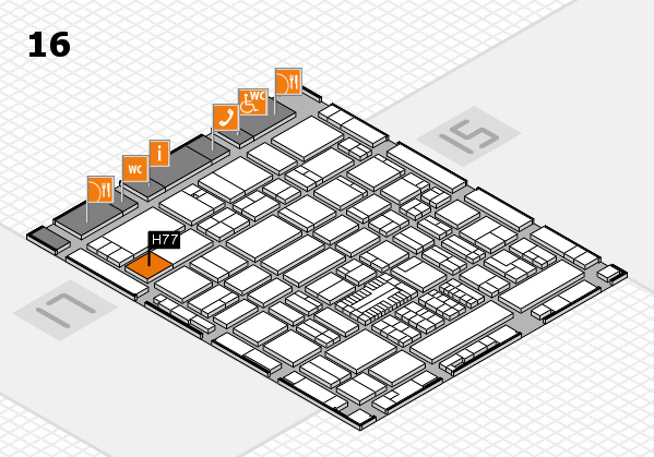 ProWein 2017 hall map (Hall 16): stand H77