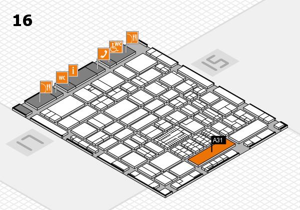 ProWein 2017 Hallenplan (Halle 16): Stand A31