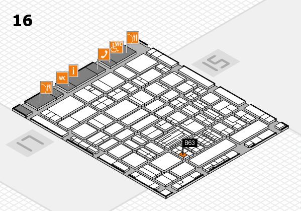 ProWein 2017 hall map (Hall 16): stand B63