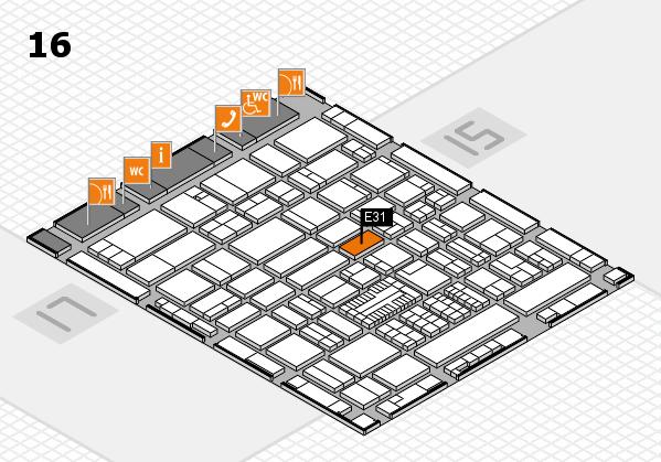 ProWein 2017 hall map (Hall 16): stand E31