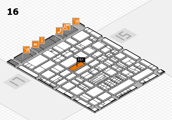 ProWein 2017 hall map (Hall 16): stand F51