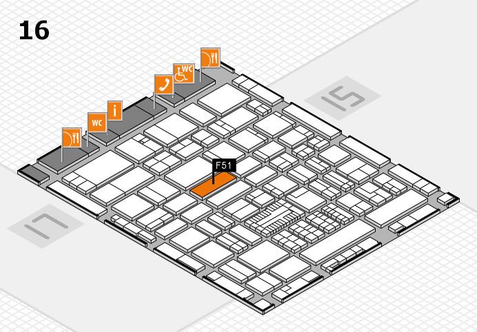 ProWein 2017 Hallenplan (Halle 16): Stand F51