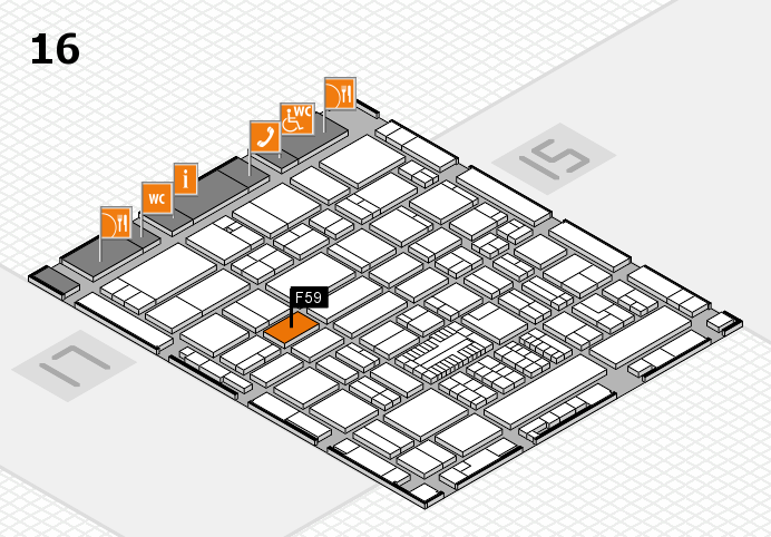ProWein 2017 hall map (Hall 16): stand F59